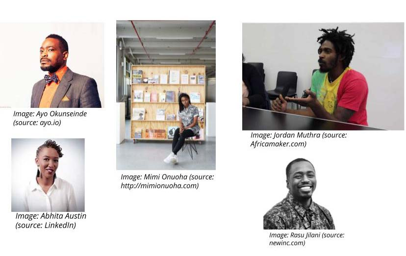 people interviewed for the Africa Maker website